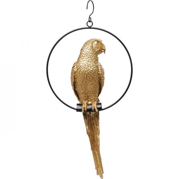 Deco Object Swinging Parrot Gold